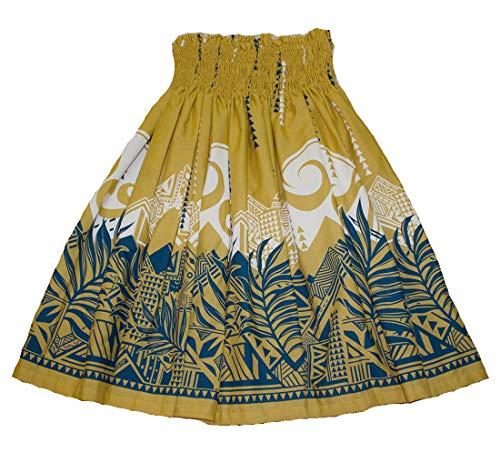 夏威夷Pa'u Polynesian呼啦椅为女式舞蹈裙(黄色)