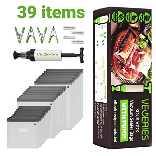 Review Of Sous Vide Bags 30 Reusable Vacuum Food Storage Bags for Anova and Joule Cookers - 3 sizes ...