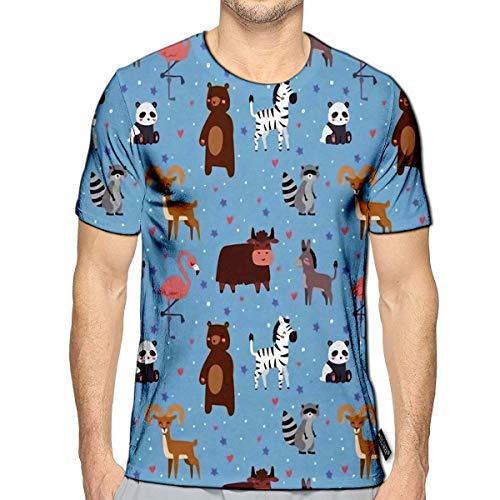 3D Printed T-Shirts Animals Cartoon Wildlife Nature Jungle Texture Bird Colorful Retro Short Sleeve Tops Tees f
