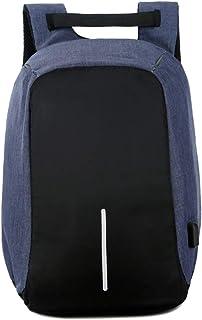 KINDOYO Men's Laptop Bag - Business Laptop Backpack with USB Charging Port Trip Bag,Blue,One Size