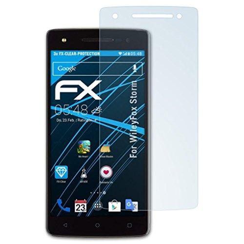 atFolix Schutzfolie kompatibel mit WileyFox Storm Folie, ultraklare FX Bildschirmschutzfolie (3X)