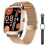 CatShin Smartwatch Mujer Reloj Inteligente Hombre Impermeable con Pulsómetro, Podómetro, Calorías, Brújula, 1.65 Pulgadas Pulsera Actividad Relojes Inteligentes Deportivo para Android iOS
