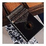 JIANG Pulgar Piano 17 Teclas de Piano Bull Kalimba Pulgar Cuerpo de Caoba de Instrumento Musical Mejor Calidad y Precio (Color : Negro, Size : 17 Keys)