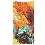 Splashes artísticos Brillantes Toallas de Mano, Pintura Abstracta Multicolor Multicolor Moderno Moderno Moderno Moderno FUTURERO Toalla cómoda para baño // Yoga / Golf / Toalla de Pelo