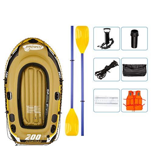 Opblaasbare rubberboot, River Fishing Boat voor 2 personen, met 2 Aluminium Oars en Voetpomp, Max Load 300 kg