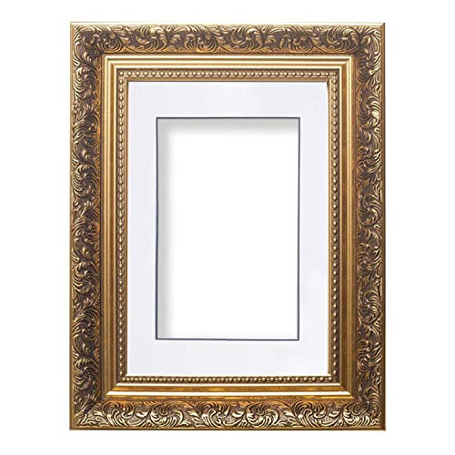 or cadre - Blanc avec noir couche mont - Instagram Carré Style baroque français Avec mont Antique Swept orné photo cadre / Affiche cadre - 43,2 x 43,2 cm pour 38,1 x 38,1 cm