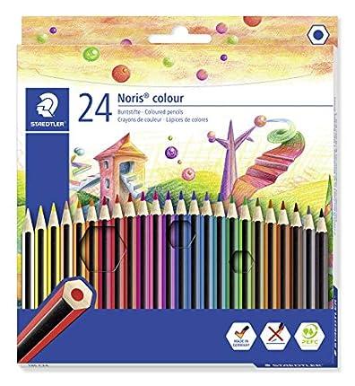 Staedtler 185 C24 - Lápices de colores (24 unidades) Multicolor