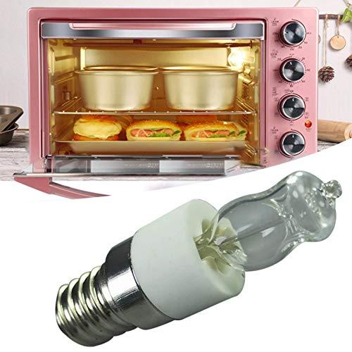 Bombillas Para Horno De Electrodomésticos, Paquete De 2 Lámparas Halógenas Resistentes A Altas Temperaturas, E14 40W / 50W 110V / 220V 750 Lúmenes 500 ° C De Alta Temperatura, Bombilla Para Microondas