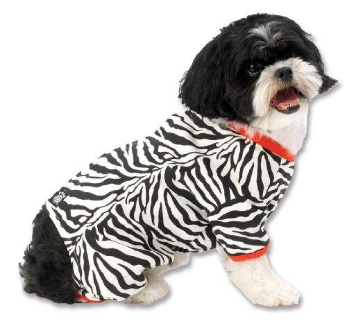 Petrageous Zebra Buzz Pyjama avec Bordure Rouge pour Animaux domestiques, Medium