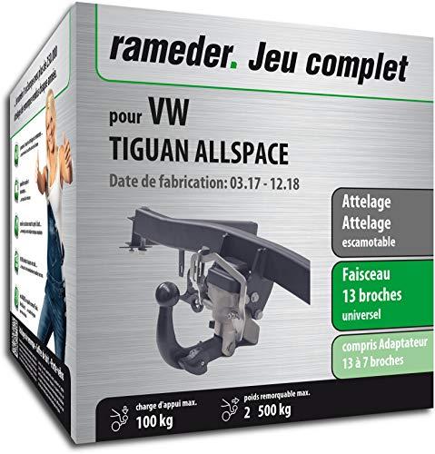 Rameder Attelage escamotable pour VW TIGUAN ALLSPACE + Faisceau 13 Broches (163093-38132-1-FR)