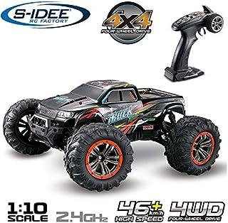 s-idee® 18173 9125 RC bil, 1:10 4WD buggy, vattentät monstertruck med 2,4 GHz ca 50 km snabb, två motorer, smidig, helt pr...