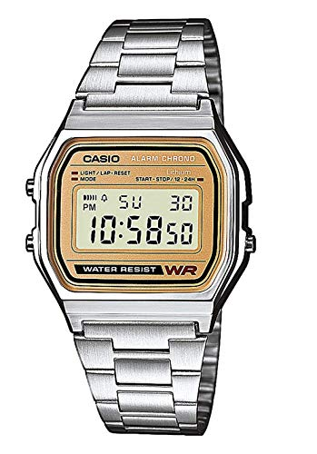 Casio Collection Unisex Retro Armbanduhr A158WEA-9EF