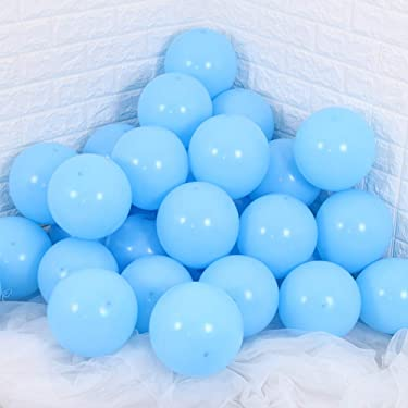TONIFUL 100Pcs Blue Latex Balloons 10 inch Large Helium Party Balloons for Wedding Birthday Ceremony Decorations