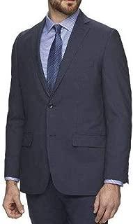 Mens Slim Fit Luxury 100% Wool Suit Jacket, 42 Long, Blue