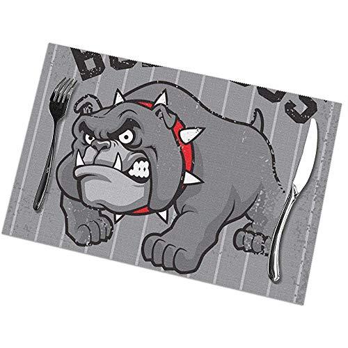 Suo Long Mantel Individual de la Mascota del Dogo Vintage, Mantel Individual Aislante Antideslizante manteles Lavables