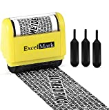 ExcelMark Rolling Identity Theft Guard Stamp (Identity Theft Roller Stamp with Refill Ink Set)