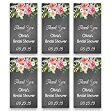 Set of 20 Personalized Chalk/Floral Stickers for Wedding or Shower Favors   Customized Stickers for 2 Ounce Plastic Bottles   Baby or Bridal Shower Favor Labels (RSL104)