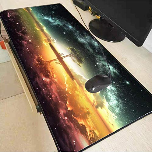 Island Scenery grote Gaming Mousepad zwarte muismat Lock Edge Laptop Pc Game Gamer Computer Accessoire 30 * 80Cm