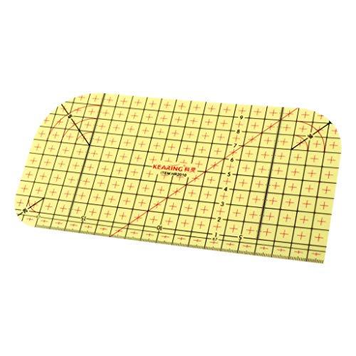 freneci Regla de Planchado en Caliente Patchwork Tailor Craft Suministros de Costura de Bricolaje Medidor de Medida