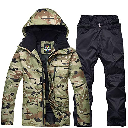 JOSCJKS Les Hommes Vêtements de Neige Combinaison de Ski Ensembles Sports de Plein air Spécialité Snowboard Wear Respirant Vestes de Ski et Pantalons imperméables Neige Picture Jacket Pant2 M
