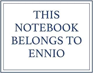 This Notebook Belongs to Ennio