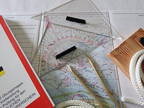 Navigationsbesteck/Übungskarten/Sportbootführerschein/Knotenbrett