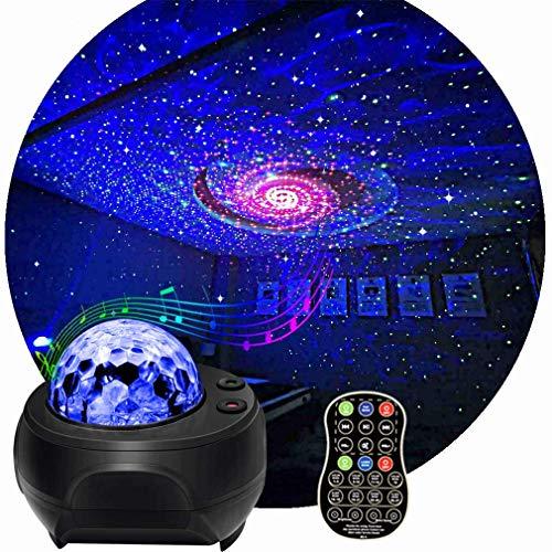 Discokugel RGBW LED Wasserwelleneffekt Magic Ball Light Bluetooth Lautsprecher Bühneneffektbeleuchtung mit Fernbedienung Auto Sound Control für DJ Club Party Show (Schwarz)