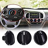 Set of 3 AC Heater Blower Fan Control Knob Replacement for 2000-2006 Toyota Tundra Air Conditioner Control...