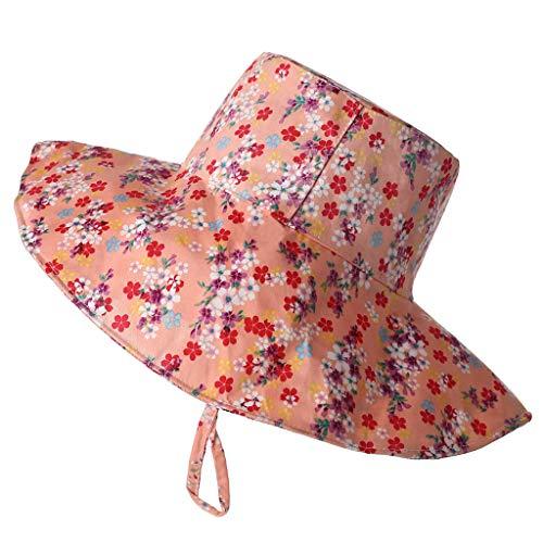 VWsiouev - Sombrero de pescador para verano, protector solar para niños, transpirable, de secado rápido, para playa, sombrero de verano, cubo de algodón, sombrero para el sol, protección solar y sombra, para verano, al aire libre, rosa
