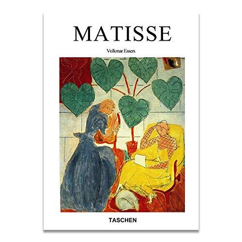 Matisse moda retro carteles e impresiones retrato abstracto arte de la pared hogar sin marco pintura decorativa en lienzo K 50x70cm