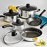 Tramontina 80112/646DS 9-Piece Simple Cooking Nonstick Cookware Set