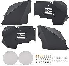 HaoTang New Front Aluminum Inner Fenders Liners for Jeep Wrangler JK 4WD 2 Door & 4 Door 2007-2018 Lightweight Black