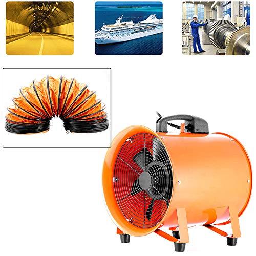 """YIYIBY 300mm Industrieventilator Gebläse 3900 m³ / h Axialgebläse, Bauventilator Ventilator, Windmaschine 5m Schlauch Axialmotor Belüftung 12\"""" Lüfter"""