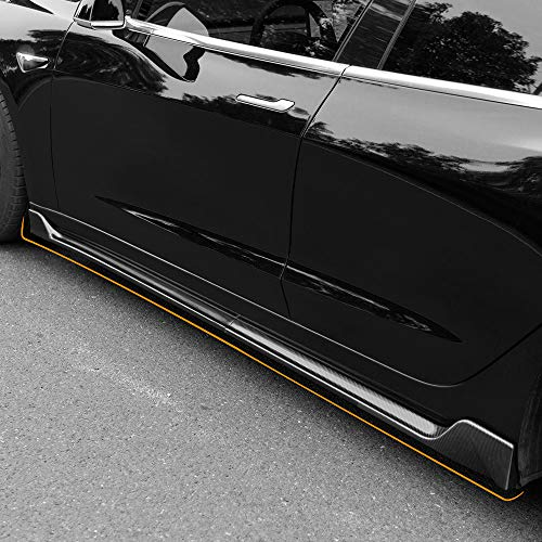 Fit Tesla Model 3 Side Skirts Carbon Fiber Pattern Styling Sports Body kits For Tesla Model 3 Accessories