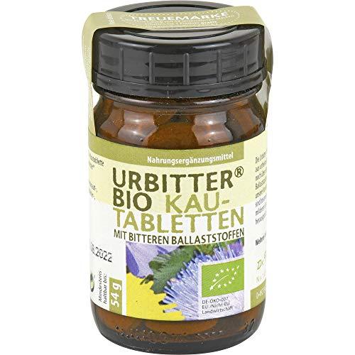 URBITTER Bio Kautabletten mit bitteren Ballaststoffen, 54 g Tabletten