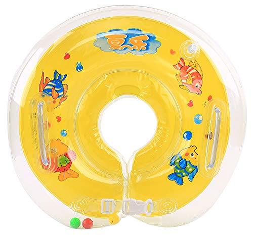 BaZhaHei Collar Bebé Natación Cuello Flotador Anillo de baño infantil Seguridad ajustable 1-18 meses Cuello de baño bebé Xia Le collar de baño