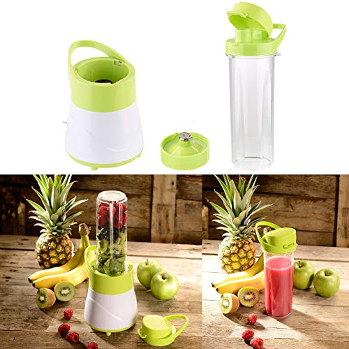 Rosenstein & Söhne Smoothie Mixer: 2in1-Smoothie- & Standmixer mit Trinkbecher, BPA-frei, 500 ml, 400 W (Juice Maker)
