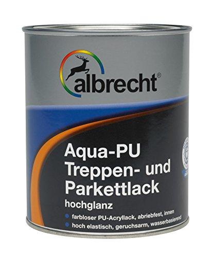 Lackfabrik J. Albrecht GmbH & Co. KG 3400606250000000750 Aqua-PU Treppen- u. Parkettlack hochglanz farblos 750ml