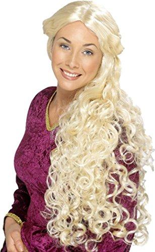 Verhalen Van Oud Engeland Fancy Party Renaissance Pruik Lange Huid Afscheid Pruiken Blond