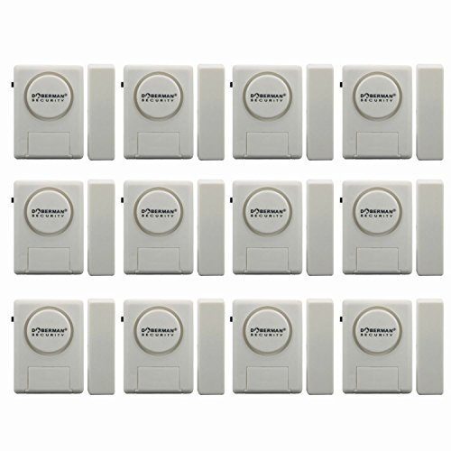 Doberman Security SE-0137 Home Security Window/Door Alarm Kit, 12 Pack (White)