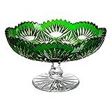 Cristal de Bohemia Ananas Centro de Mesa, Cristal, Verde, 20x20x12 cm