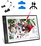 SanerDirect Diamond Painting Light Pad A4, Well-Design Type-C Connection Port, Adjustable Brightness with Detachable Stand and Clips (Upgraded)