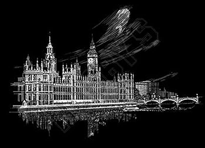 Royal and Langnickel Famous Places Engraving Art, Big Ben and Parliament
