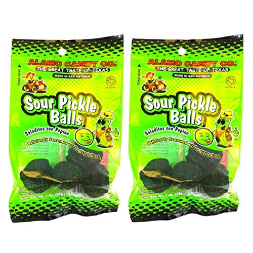 Alamo Candy Sour Pickle Balls, 1 Oz (Pack of 2) from Alamo Candy