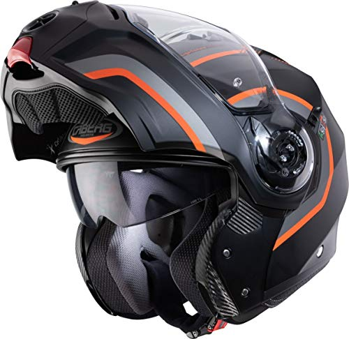 CASCO CABERG DROID PURE MATT BLACK/ANTHRACITE/ORANGE XL