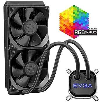 EVGA CLC 280mm All-In-One RGB LED CPU Liquid Cooler 2x FX13 140mm PWM Fans Intel AMD 5 YR Warranty 400-HY-CL28-V1