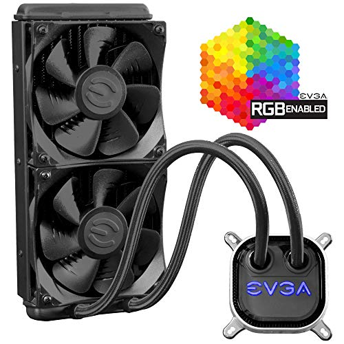 EVGA CLC 280 Liquid/Water CPU Cooler, RGB LED Cooling 400-HY-CL28-V1