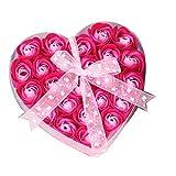 Mimanou Herzförmige Box Rose Seife Blumen romantische Hochzeit Party Geschenk Badezimmer Dekor...