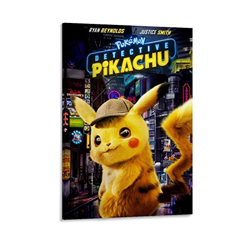 DRAGON VINES Póster de Pokemon Detective Pikachu Art Póster impreso para pared de sala de estar, 40 x 60 cm