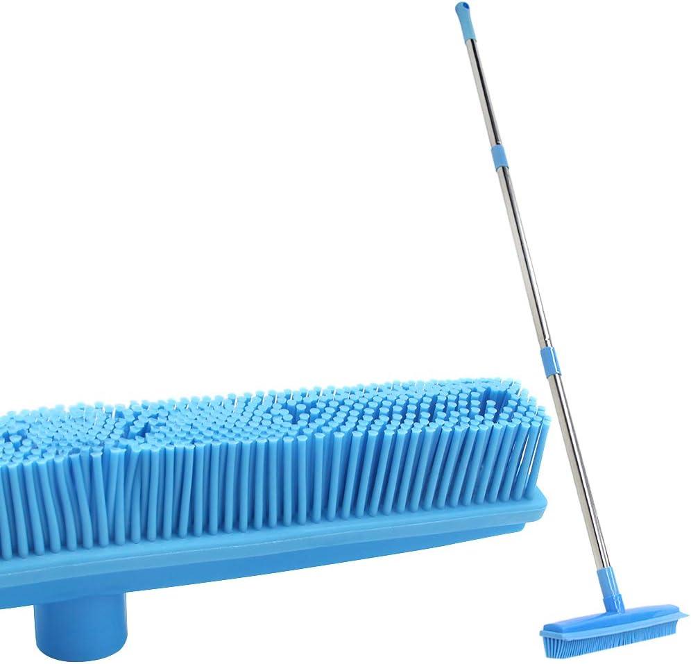 LandHope Carpet Rake Long Handle Limited time sale Pet Dog Max 76% OFF Squee Broom Rubber Hair